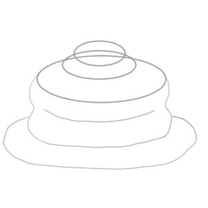 ホットケーキ イラスト 簡単