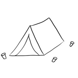 キャンプ イラスト 手書き