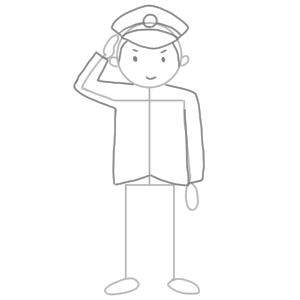 警察 イラスト 簡単