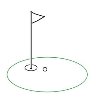 ゴルフ イラスト 手書き