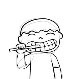 歯磨き イラスト 簡単