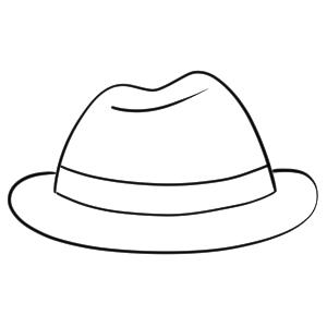 帽子 イラスト 簡単