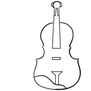 バイオリン イラスト 簡単