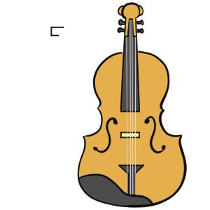 バイオリン イラスト 書き方