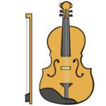 バイオリンのイラストの簡単な書き方 手書きで描くなら?