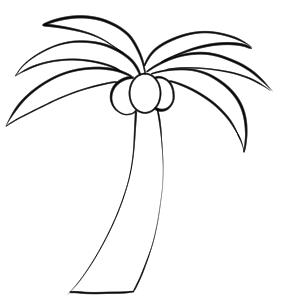 ヤシの木 イラスト 書き方