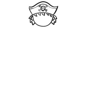 海賊 イラスト 簡単