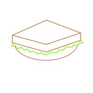 サンドイッチ イラスト 簡単