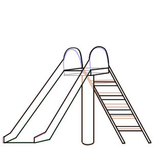 滑り台 イラスト 手書き