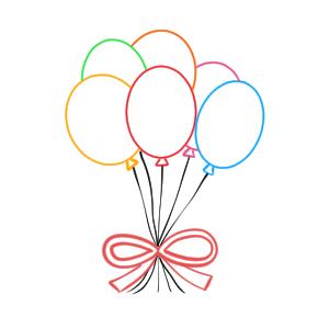 風船 イラスト 簡単 書き方