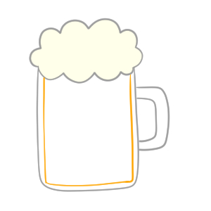 ビール イラスト 簡単