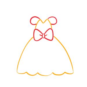 ドレス イラスト 簡単