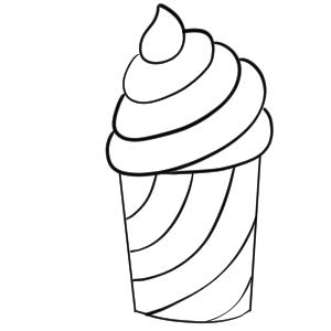 ソフトクリーム イラスト 簡単