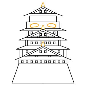 大阪城 イラスト 簡単