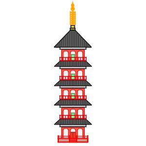 五重塔 イラスト 簡単 書き方