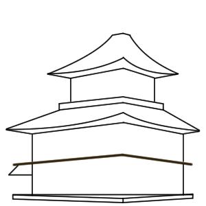 金閣寺 イラスト 簡単 書き方