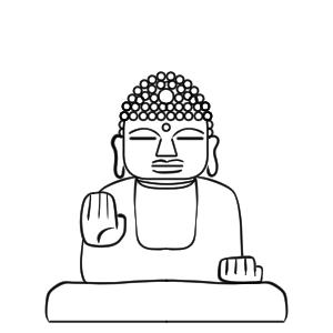 奈良の大仏 イラスト 書き方