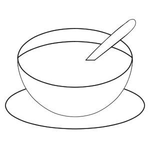 スープ イラスト 簡単