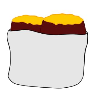 焼き芋 イラスト 書き方