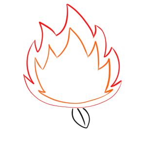 焚き火 イラスト 書き方