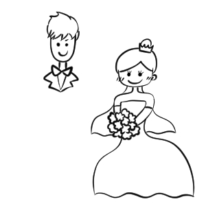 結婚式 イラスト 手書き