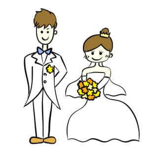 結婚式 イラスト 簡単