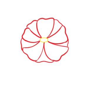 山茶花 イラスト 簡単