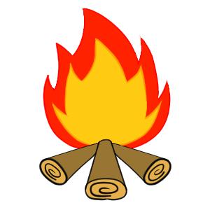 焚き火 イラスト 簡単