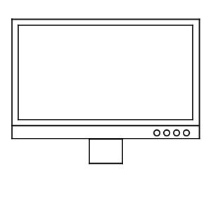 テレビ イラスト 簡単