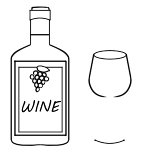 ワイン イラスト 手書き