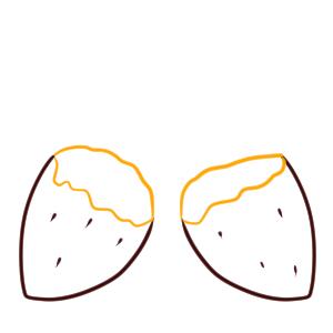 焼き芋 イラスト 簡単