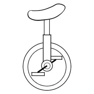 一輪車 イラスト 簡単