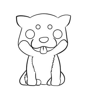 柴犬 イラスト 簡単