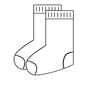 靴下 イラスト 簡単