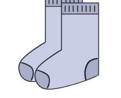 靴下 イラスト 書き方