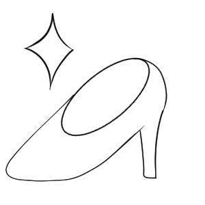 ガラスの靴 イラスト 簡単