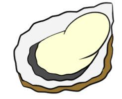 牡蠣 イラスト 簡単