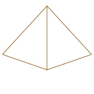 ピラミッド イラスト 簡単