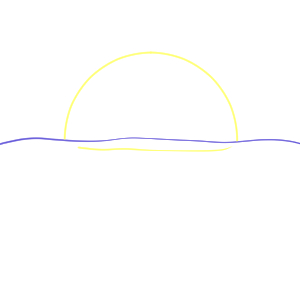 日の出 イラスト 簡単