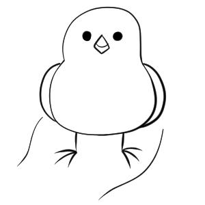 文鳥 イラスト 簡単