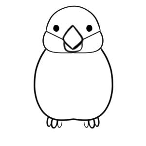 文鳥 イラスト 書き方