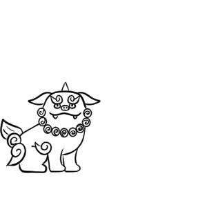 狛犬 イラスト 簡単