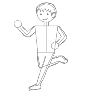 マラソン イラスト 簡単