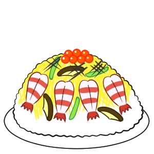 ちらし寿司 イラスト 簡単