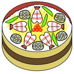 ちらし寿司 イラスト 手書き