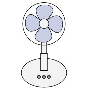 扇風機 イラスト 簡単