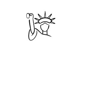 自由の女神 イラスト 簡単