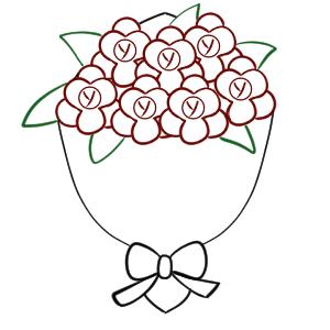 花束 イラスト 簡単 書き方