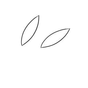 雪うさぎ イラスト 手書き 簡単